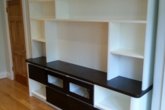 Entertainment unit shelving