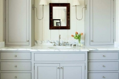 Bright custom built in vanity
